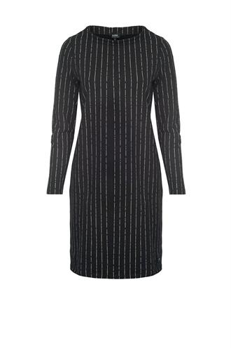 L.O.E.S. Michelle dress sweat streep