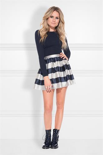 Lachelle skirt n 3-790 satijn
