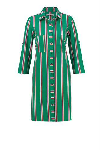 Loopy stripe dress light tr.