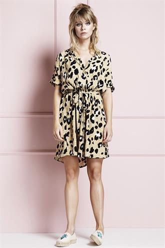 Maggie dress star leopard