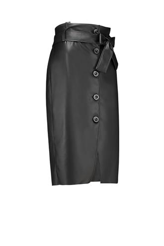 Manya dull leather skirt