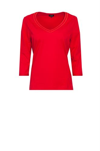 Mathilde shirt v-hals lurex