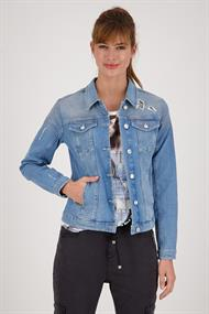 Monari 406173 jeans jacket destroyed
