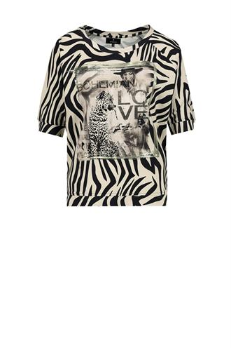 Monari 804744 sweat t-shirt zebra