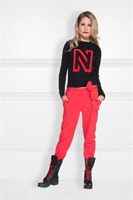 N logo flock sweater n 8-541