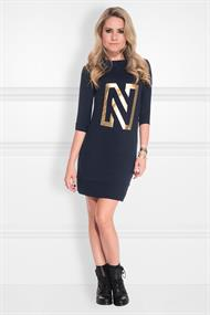 N sweat dress foil print n5870