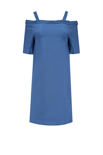 Nikkie Plessen Blauw Sutton bardot dress n 5-016