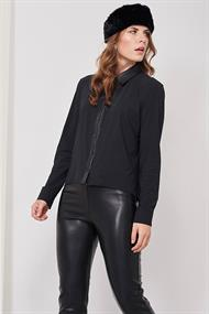 Noa blouse leather light tr.