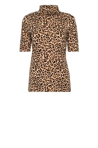Olivia rollneck tricot leopard