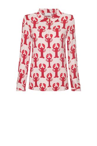Perfect blouse lobster print