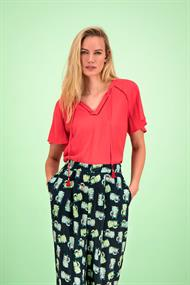 POM Amsterdam sp6190 top blusing coral ajour