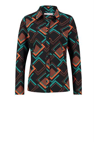 Poppy geo shirt travel medium