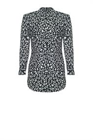Poppy leopard travel blouse