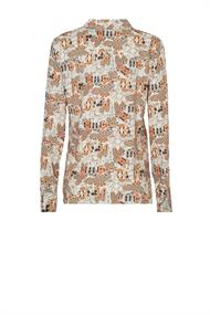 Puck abstract print blouse