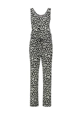 Racing big leopard jumsuit