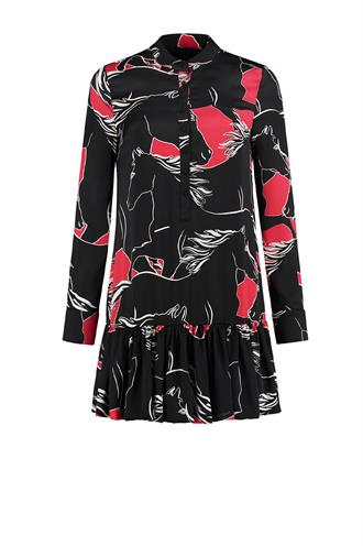Roi dress n5-427 satijn print