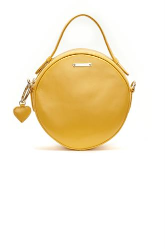 Roundy bag real leather