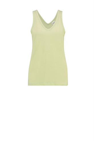 Simple abby singlet v-hals linnen