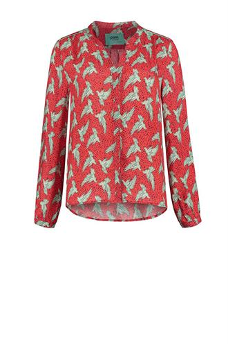 Sp5859 print blouse love birds