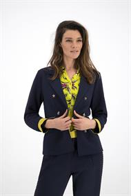 Sp5881 tricot blazer pipping