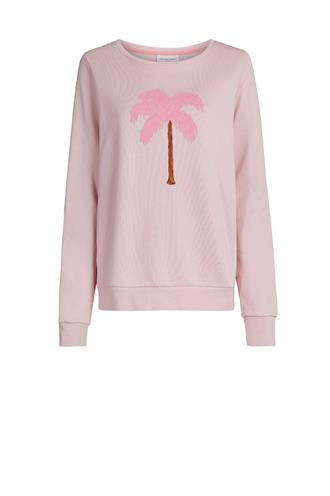 Spring sweater palm print