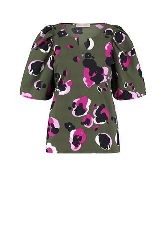 Studio Anneloes bo-ann 3/4 arti animal blouse