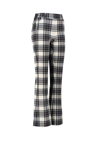 Studio Anneloes flair plaid trousers heavy tr.