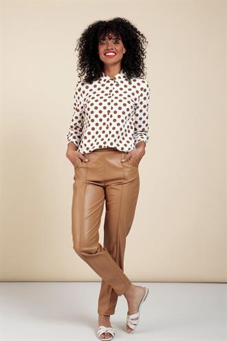 Studio Anneloes kate faux leather trousers