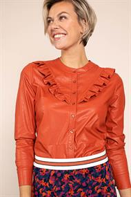 Studio Anneloes odelia faux leather blouse