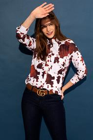 Studio Anneloes poppy cow blouse light travel