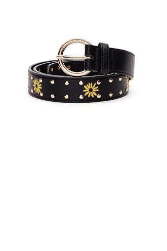 Sunflower studs belt leather