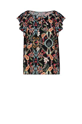 Vania blouse top jungle print