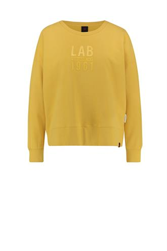 W18f292lab gele sweater logo