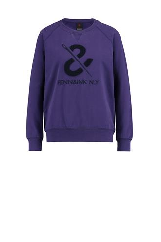 W18f327 sweater paars logo